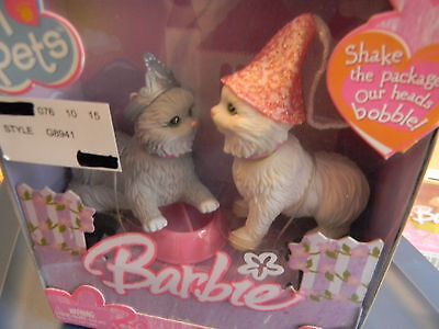 NEW IN BOX 2005 BARBIE I LOVE PETS BOBBLE HEAD (From Purr-sia, with Love) 3+