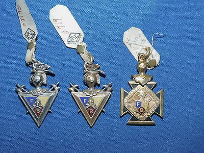 Antique Knights of Pythias Masonic Fraternal Pendants New OLD STOCK Made USA