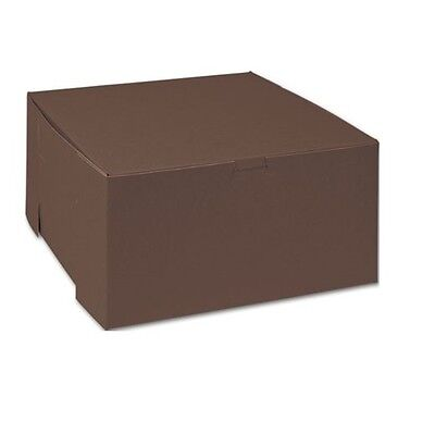 25 Count Chocolate Cake and Bakery Boxes (10x10x5)