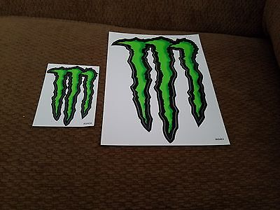 Large & small Monster Energy Drink Decal Sticker ATV/Truck/Buggy/Car