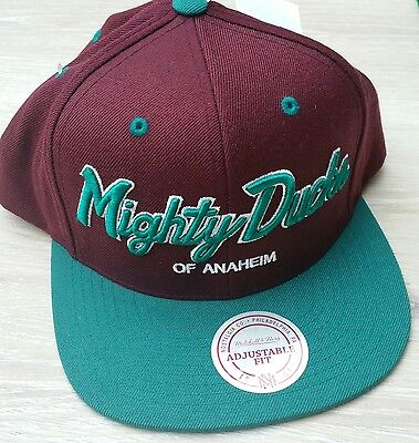 NEW Mighty Ducks Of Anaheim 20th Anniversary Snapback Cap MITCHELL & NESS NHL