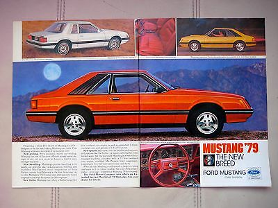 1979 Ford Mustang - Original Print Car  Ad - Excellent Cond