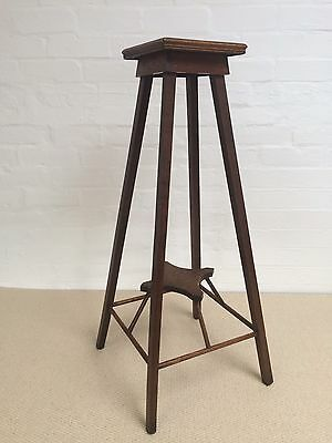 An Oak Arts And Crafts Plant Stand
