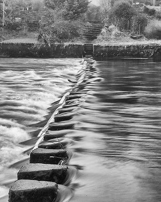 POSTER size Photographic Art. Stepping Stones 16.5 x 23.5 inch (portrait)