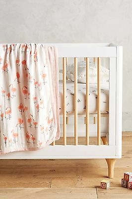 Little Unicorn Anthropologie Flamingo Muslin Quilt Blanket New!
