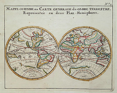 Antique world map from 1755 by Bossuet - California as an island
