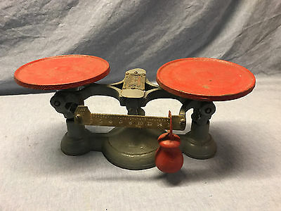 Vintage Oliver Balance Scale, Cast Iron brass tag (bakers, tractor, etc.)