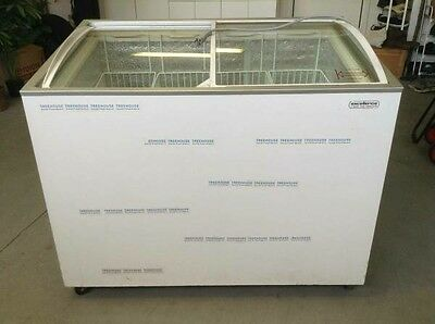 Used Commercial Ice Cream Freezer with Curved Window Display