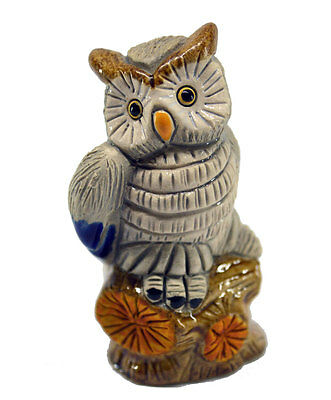 Rinconada 2017 Collection, small OWL on tree trunk , 2.7¨H, #AR816