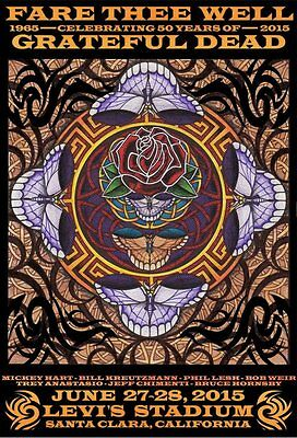 """Grateful Dead """"Fare Thee Well"""" Lenticular Poster by Michael Everett  #1304/2015"""