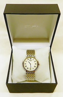 Men's Seiko Watch Quartz Movement Sainless Steel and Gold