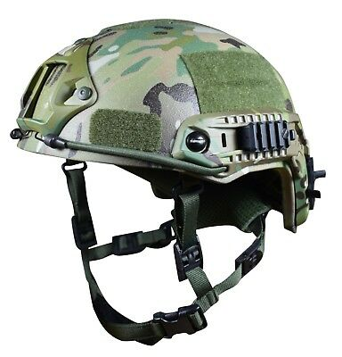 Ballistic helmet NIJ level 3A; V50 700 M/S & EN397 certified Multicam XL