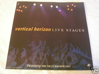 Vertical Horizon 1997 Live Stages Poster From Live Album Recorded At Ziggys