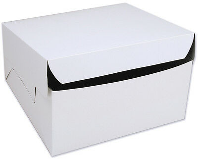 25 count WHITE 12x12x6 Bakery or Cake Box