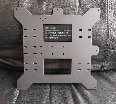 Y-Axis Carriage Plate for (Wanhao I3 / Monoprice Maker Select) v2.1 and PLUS
