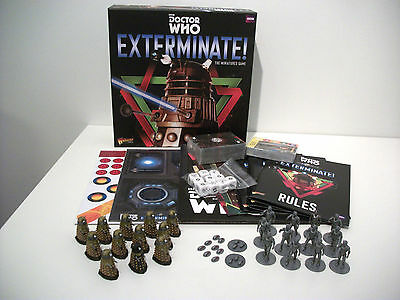 Painted Doctor Who Exterminate starter box set board game miniatures