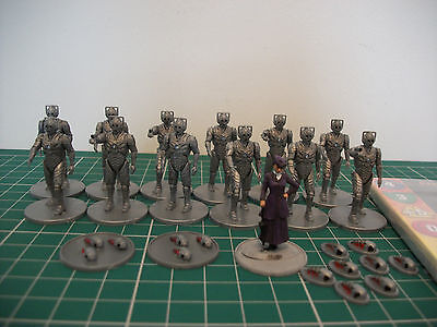 Painted Doctor Who Missy & The Cybermen miniatures