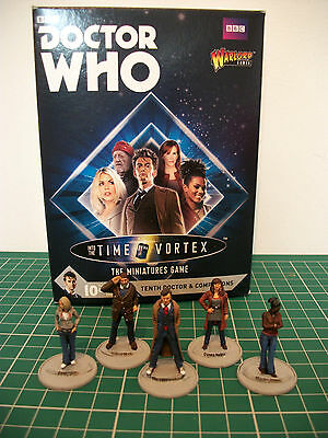 Painted Doctor Who 10th doctor & companions miniatures