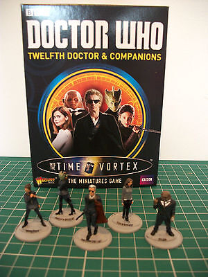 Painted Doctor Who 12th doctor & companions miniatures