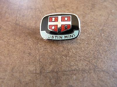 Austin Mini  Original  Chrome Enamel Showroom Lapel Pin