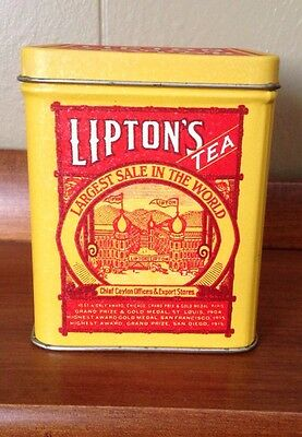 Lipton Tea Planter Ceylon Square Tin Replica