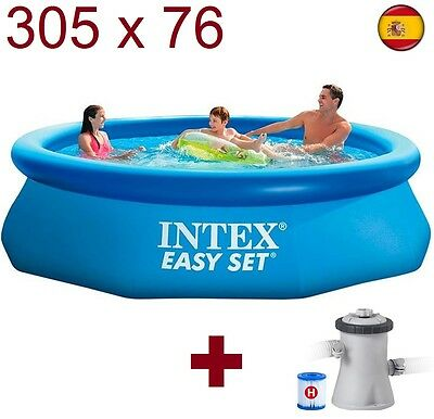 "PISCINA HINCHABLE DE PLASTICO DESMONTABLE INTEX 305cmX76cm 10""x30"" 3.05m EASY SE"