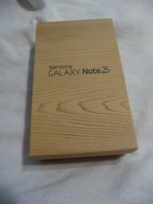 Samsung Galaxy Note 3 Empty Box with brochures and extras