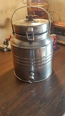vintage cecilware stainless steel dispenser selling as is