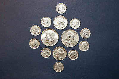 """90% """"junk silver"""" - $1.00 Face Value - Random Years ,Denomination and Condition."""