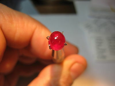 Aaa Rubino Naturale - Natural Ruby Ct 2.55  Cabochon Cut Origin Madagascar