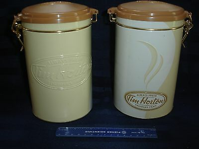 2 Tim Hortons Limited Edition Always Fresh Collectible Coffee Canister Tin #006