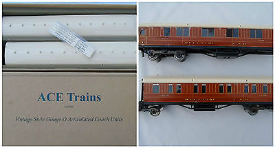 ACE Trains Vintage Style Gauge O Articulated Coach Units LNER Sleepers BOXED