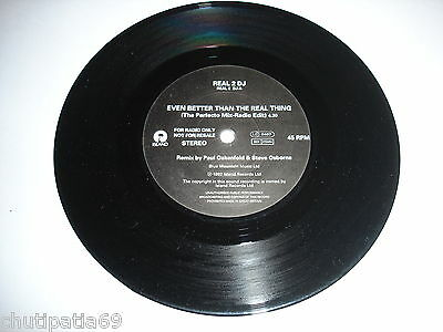 """U2 Even Better Than The Real Thing UK 7"""" Promo"""