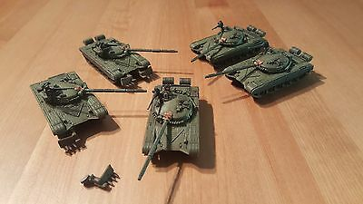 Soviet  PAINTED T72 group of 5 - Team Yankee