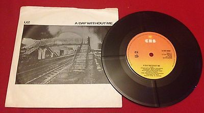 U2 A Day Without Me 1st IRISH PRESSING UK TM Nos Rarer Than A Promo Orig Slve