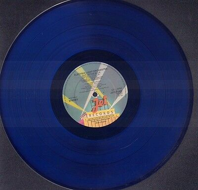 ELECTRIC LIGHT ORCHESTRA Out Of The Blue UK BLUE VINYL 2LP Lyric Inners G/F