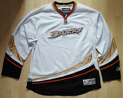 Anaheim Ducks, Official Reebok Ice Hockey Shirt, White, Size Large.