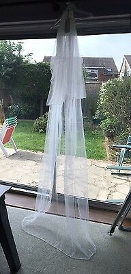 Long 2 Tier Veil Ivory Off White Wedding With Tags