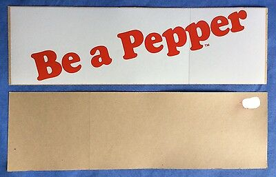 """NOS vintage DR """"Be a PEPPER"""" apothecary DRUGSTORE antique soda fountain DECAL"""