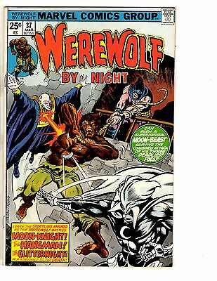 Werewolf By Night # 37 FN Marvel Comic Book 3rd Moon Knight Appearance Key GM10