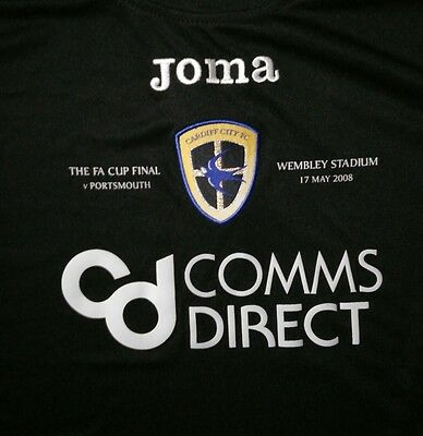 Joma Cardiff City Fa Cup Final Football Shirt Age 12
