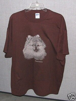 Pomeranian Black Or Dark Brown T-shirt. New! Your Size!