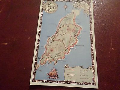 Postcard Map of The Isle of Man