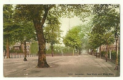 Leicester - a colour printed postcard of New Walk