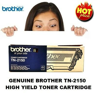 Genuine Brother TN-2150 High Yield Toner Cartridge 2,600 Pages