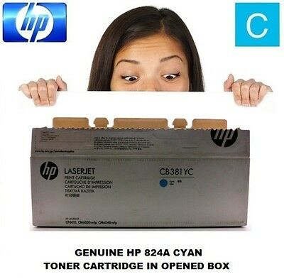 Genuine OPEN BOX HP 824A Optimised Cyan Toner Cartridge CB381YC (CB381A)