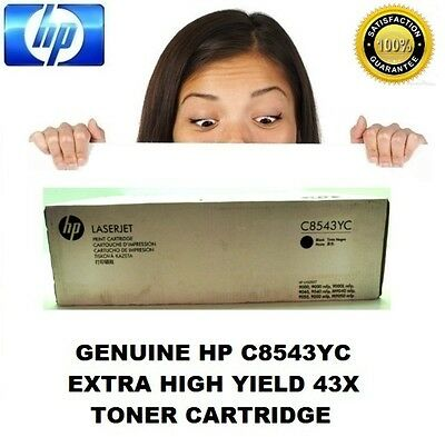 Genuine HP 43X C8543YC High Yield C8543X Toner Cartridge For 9000 & 9040 Series