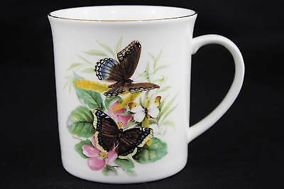 Royal Sutherland H&M Mug Cup Fine Bone China Butterflies Flowers EUC HTF NOS