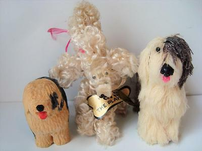 3 Miniature Dogs PETS Old English Sheepdog GIGI Playful Pup for Dollhouse Doll
