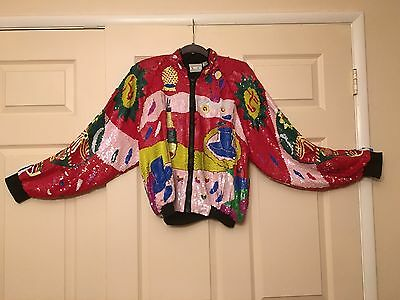Vintage Swee Lo Sequin Jacket 80's Fab Crazy Outrageous Glam Party Ugly? Unique